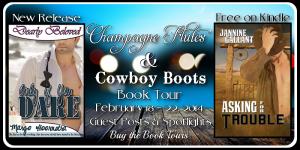 Tour Banner - Champagne Flutes & Cowboy Boots